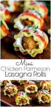 Mini Rollos de Lasaña de Pollo | Este aperitivo fácil es la combinación de dos amazi …   – Xmas food ideas