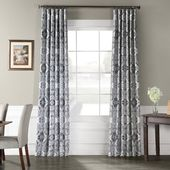 Bloomsbury Market Fegley Printed Taffeta Faux Silk Blackout Indoor Single Curtains