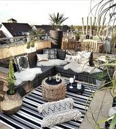 33 Creative Boho Balcony in Your Home Decor – #Bal…