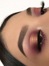 Single Eyeshadow Pot #makeupeyeshadow Erstellen Sie diesen Augen-Make-up-Look ganz einfach mit …