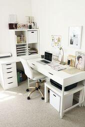 Top 25+ DIY Computer Schreibtisch Ideen für Heimb…