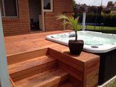 Top 80 Best Hot Tub Deck Ideas – Relaxing Backyard Designs   – wohnen
