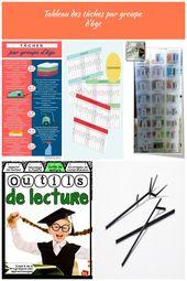 Tableau des tâches par groupe d'âge Outils pour la Maison Tableau des tâche…