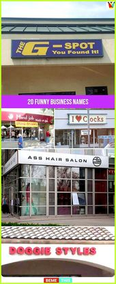20 Funny Business Names That Will Make You Laugh – #Business #Funny #hilariouswo…