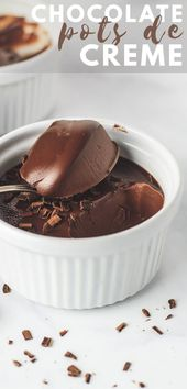 Easy Chocolate Pots de Crème – A deliciously rich…