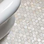 White Hexagon Pearl Shell Tile