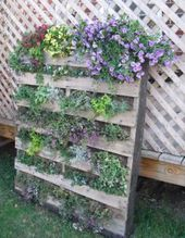 Old wooden shipping pallets make gorgeous, rustic vertical gardens with room for…, #Garden…