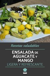 Receta de ensalada de aguacate y mango   – comida y recetas