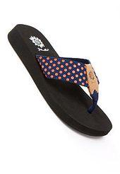Yellow box flip flops, Walk in my shoes