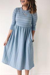 21 Dresses Skirts For Starting Your Winter #denim #dresses #shirt dress #midi dr…