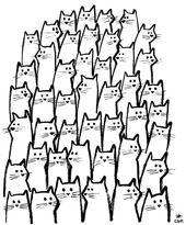 tier unsauber katze niedlich gekritzel zeichnung abbildung kawaii  #abbi