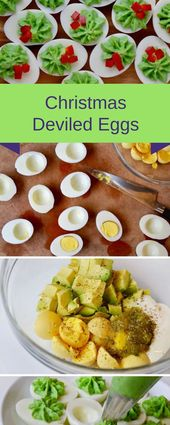 Christmas Deviled Eggs #christmas #appetizer | Yumms Food Recipes
