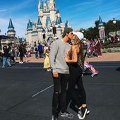 Couple Goal. Kiss. Disney Land. You and me forever. Romance. Cute. Relationship
