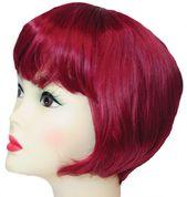 Burgundy Straight Hair Women Adult Bob Wig Costume Accessory - 33790502