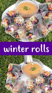 Winter Rolls with Spicy Dip – vegane Rezepte