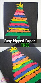 Easy Ripped Paper Tree Craft für die ganze Familie – Die Besten Upcycling Ideen