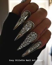 30 große Stiletto Nail Art Design-Ideen #nailideas   – Nails