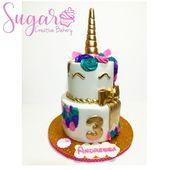 Pastel de fondant de unicornio – productos de panadería creativos de azúcar – #Bakery #Cre …   – Cupcakes