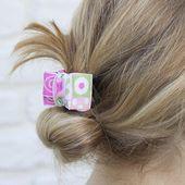 Pink & Green geometrische große Klaue Clip, adrette Haarspange, verdeckte Klaue Clip, Klaue Clip, French Twist Clip, starken Griff Clip, Strand Haarspange
