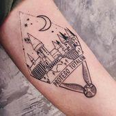 Hogwarts 🖤✨🌙 • #Tattoo #Tattoos #Hogwarts #InstainspiredTattoos #Harrypotter
