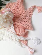 Capri Summer Crochet Triangle Scarf – FREE CROCHET PATTERN – Craft-Mart