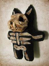 Spooky Cat Plush Doll – hergestellt von DeviSaya