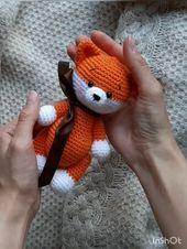 Crochet sample fox , crochet sample amigurumi fox, crochet forest animal, sample amigurumi fox, crochet sample in English, amigurumi toy