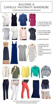 Wie man eine Kapsel-Umstandsgarderobe baut   – Pregnancy & Maternity Fashion