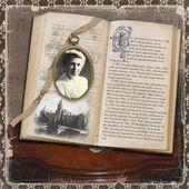 Tante Lilia ~ page géniale du patrimoine impressionnante faite dans une mise en page de livre antique!   – Heritage Scrapbooks #1