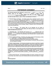 Partnership Agreement Template Create A Partnership Agreement Contract Template Partnership Templates Free Design
