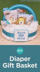 DIY Windel Geschenkkorb   – Gift Basket