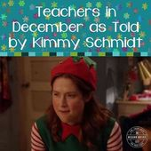 Lecturers in December as Advised by Kimmie Schmidt
