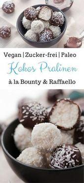 Chocolates veganos de coco à Bounty & Raffaello | Sem Açúcar, Paleo e Vegano   – Essen und Trinken