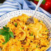Diese vegan gerösteten Paprika-Nudeln sind super einfach zuzubereiten und es ist SO …   – FOOD NOW