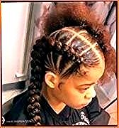 : Simple hairstyles for short hair for school Black Girl – #black #hairstyl … …