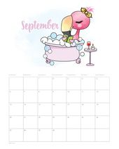 Free Printable 2020 Funny Flamingo Calendar – The Cottage Market