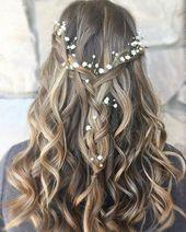 Trend Fashionist: 36 schöne Brautfrisuren Ideen für langes Haar   – Hair
