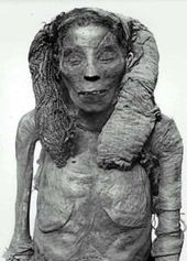 Mummies and mummy hair from historical Egypt.