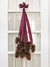 13 winterliche DIY Bastelideen – Basteln mit Tannenzapfen Weihnachten