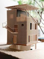 Kunst, architektonische Modelle zu machen