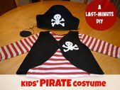 DIY pirate costume for kids – If your kid still hasn't got a Halloween outfit, t…