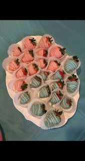 Baby Ilustration Chocolate covered strawberries gender reveal shower ideas 31 Ideas