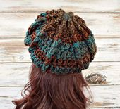 Crochet Hat Womens Hats Winter Hats Newsboy Hat Slouchy Beanie Hat Fall Accessories Mens Hats Golf Cap Newsboy Cap Baker Boy Hat – guantes y botas crochet