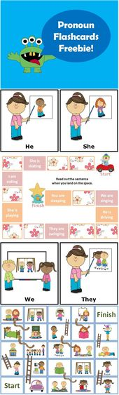 Topic Pronouns Flashcards (w/ Boardgames and Worksheet)