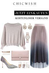 Gradient Shiny Mesh Velvet Pleated Skirt – Klamotten
