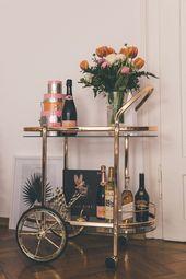 Ein neuer Interior-Favorit: Unser goldener Barwagen