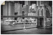 Premium Wandfolie »M. Bratsche: New York Brooklyn Bridge und Manhattan «   – Products