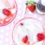 Valentine's Day: Strawberries and Champagne Margarita