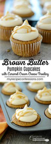 Brown Butter Kürbis Cupcakes –  #brown #butter #cupcakes #kurbis