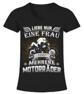 MEHRERE MOTORRÄDER TSHIRT  –  V-Ausschnitt T-Shirt Frauen  #Shirts #TShirts